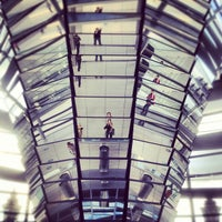 Photo taken at Reichstag Dome by Karina M. on 9/1/2012