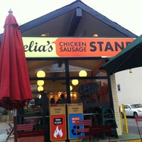 Photo taken at Delia's Chicken Sausage Stand by April K. on 2/4/2012