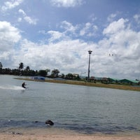 Photo taken at Camsur Watersports Complex (CWC) by Yazmine B. on 8/20/2012