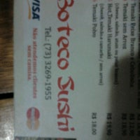 Photo taken at Boteco Sushi by Gerraa d. on 7/17/2012