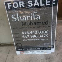 Photo taken at Royal LePage Signature Realty by Sharifa M. on 4/21/2012