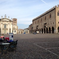Photo taken at Piazza Sordello by Mauro S. on 2/27/2012