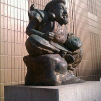Photo taken at えびす像 by daisuke n. on 2/21/2012