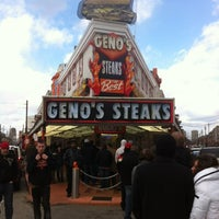 Photo taken at Geno's Steaks by Nicole F. on 2/25/2012