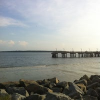 Photo taken at St. Simons Island Pier by Caroline N. on 7/6/2012