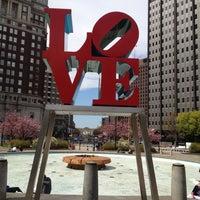 Photo taken at JFK Plaza / Love Park by Jimmy C. on 4/4/2012