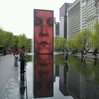 Photo taken at Crown Fountain by Brian K. on 4/14/2012