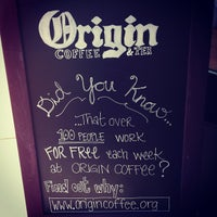 Photo taken at Origin Coffee & Tea by Donelle on 4/16/2012