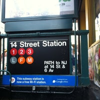 Photo taken at MTA Subway - 14th St/Union Square (L/N/Q/R/4/5/6) by Carissa D. on 7/5/2012
