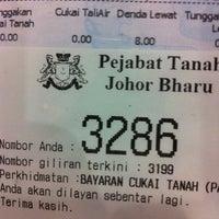 Photo taken at Pejabat Tanah dan Galian Johor by Sylvie N. on 5/25/2012