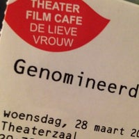 Photo taken at De Lieve Vrouw Theater Film Café by Ruud on 3/28/2012