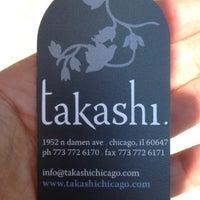 Photo taken at Takashi by Hunter B. on 6/10/2012