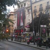 Photo taken at Plaza de Tirso de Molina by Alex G. on 7/27/2012
