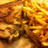 Photo taken at Meatheads Burgers & Fries by Rebecca A. on 2/6/2012