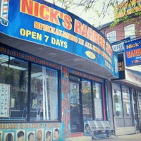 Photo taken at Nick's Barbershop by Benny O. on 4/28/2012