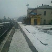Photo taken at Železniční stanice Semily by Jenda Š. on 2/28/2012