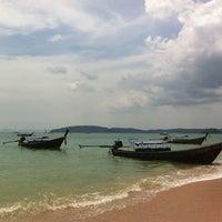 Photo taken at Ao Nang Beach by Aleksey M. on 3/12/2012