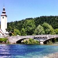 Photo taken at Bohinjsko jezero (Bohinj Lake) by Klemen on 7/19/2012