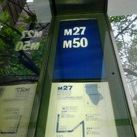 Photo taken at MTA Bus - 49 St & 1 Av (M50) by 0zzzy on 5/8/2012