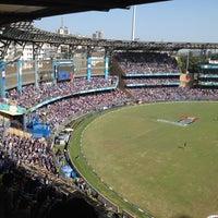 Photo taken at Wankhede Stadium by Nikhil O. on 4/25/2012