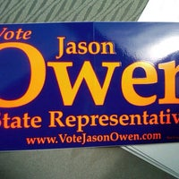 Photo taken at Jason Owen for State House HQ by Donnie H. on 3/30/2012