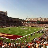 Photo taken at Alumni Stadium by Andrew T. on 9/1/2012