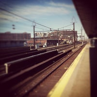 Photo taken at PATH - Harrison Station by JMX on 4/8/2012