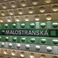 Photo taken at Malostranská (tram) by UUalter G. on 8/31/2012