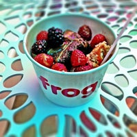 Photo taken at Frog Frozen Yogurt Bar by Lindsey M. on 4/9/2012