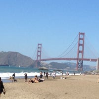 Photo taken at Baker Beach by Bryan D. on 7/21/2012