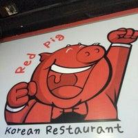 Photo taken at Red Pig Korean Restaurant (빨간돼지 한국식당) by Leonard Y. on 9/2/2012