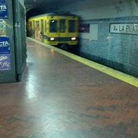 Photo taken at Estacion Av. La Plata [Línea E] by Matuteen on 4/29/2012