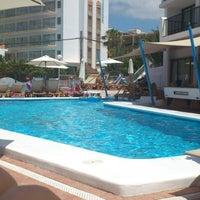 Photo taken at Hotel Osiris Ibiza by Alberto Y. on 6/17/2012