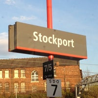 Photo taken at Stockport Railway Station (SPT) by Ged C. on 4/24/2012