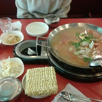 Photo taken at 놀부부대찌개&철판구이 by Chang Soo K. on 2/29/2012