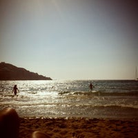 Photo taken at Kini Beach by 🐾Aggeliki B. on 7/29/2012