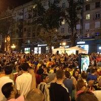Photo taken at Official Fan Zone of UEFA EURO 2012 by Ilya C. on 7/1/2012