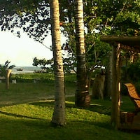 Photo taken at Pousada Areia Preta - Cumuruxatiba by Paula F. on 9/10/2012