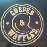 Photo taken at Crepes & Waffles by Ingrid V. on 8/6/2012