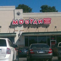 Photo taken at MOOYAH Burgers, Fries & Shakes by Frances B. on 3/23/2012