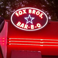 Photo taken at Fox Bros. Bar-B-Q by Risa E. on 5/13/2012