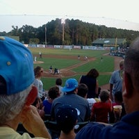 Photo taken at TicketReturn.com Field at Pelicans Ballpark by Alexandra C. on 8/16/2012