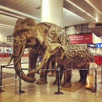 Photo taken at Indira Gandhi International Airport (DEL) by Batsaikhan K. on 7/18/2012
