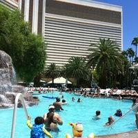 Photo taken at The Mirage Pool & Cabanas by Samantha S. on 7/3/2012