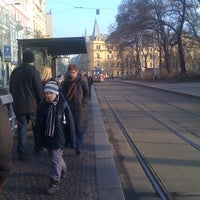 Photo taken at Karlovo náměstí (tram, bus) by Jan K. on 3/16/2012