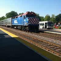 Photo taken at Metra - Highland Park by Lauren F. on 7/11/2012