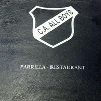 Photo taken at Parrilla Club Atlético All Boys by Andres T. on 3/11/2012