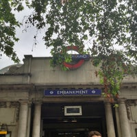 Photo taken at Embankment London Underground Station by Nick R. on 7/18/2012