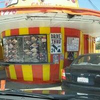 Photo taken at Vaqueros Carne Asada Taco Shop by Eddie V. on 4/15/2012