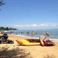 Photo taken at Pantai Teluk Kemang by Andy T. on 8/22/2012
